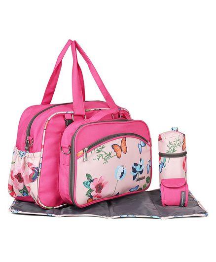 My Milestones Diaper Bag Duo Detach - Pink Blossom