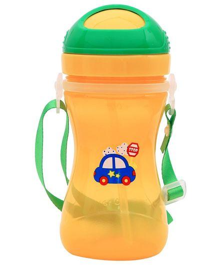 1st Step Sport Straw Sipper Car Print Orange - 360 ml