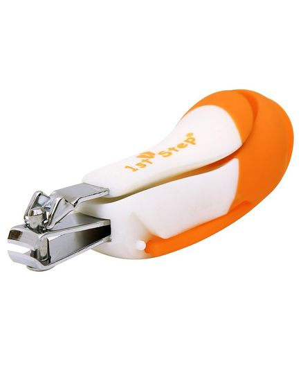 1st step Nail Clipper With Magnifying Glass - Orange
