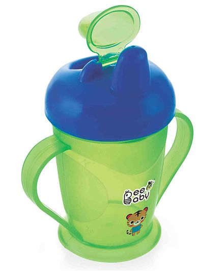 Beebaby Twin Handle Spout Sipper Cup Blue & Green - 180 ml