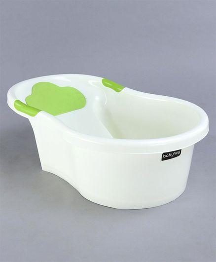Babyhug Bath Tub - Off White and Green