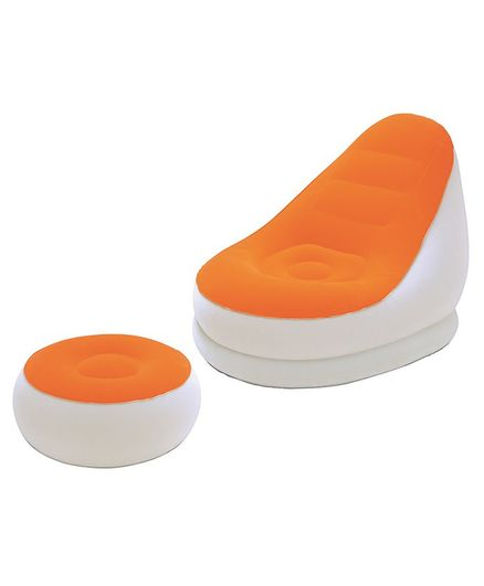 Bestway Comfort Cruiser Chair Sofa With Footrest Pack of 2 - Orange Green