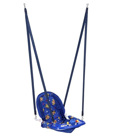 New Natraj Swing Deluxe Bear & Heart Print - Blue