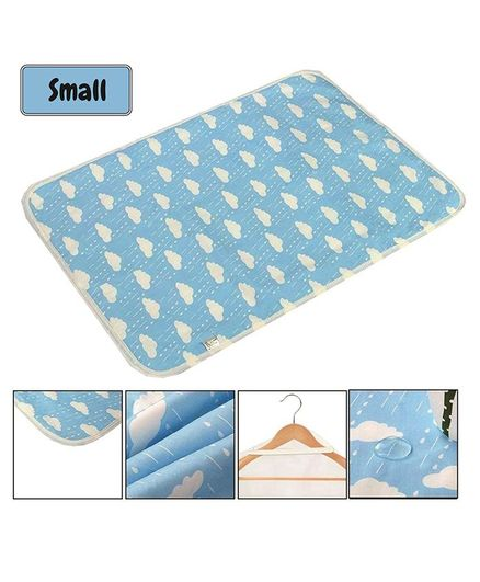 Syga Cloud Printed Waterproof Diaper Changing Mat Small Size - Blue