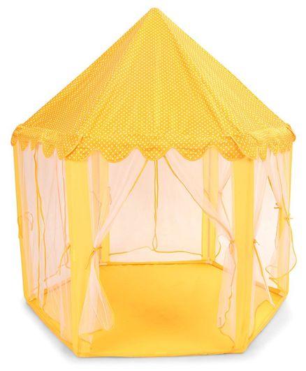 Kids Zone Dot Print Dream House Tent - Orange