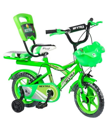 Speed Bird Double Seat Bicycle Green - 12 inches