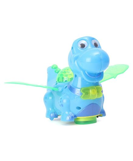 Playmate Battery Operated Dino With Light & Music - Blue
