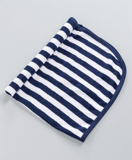 Simply Striped Hand & Face Towels - Navy Blue