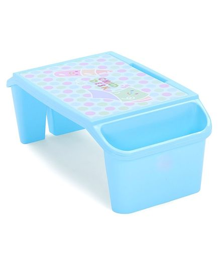 Study Table With Storage For Small Kids - Blue