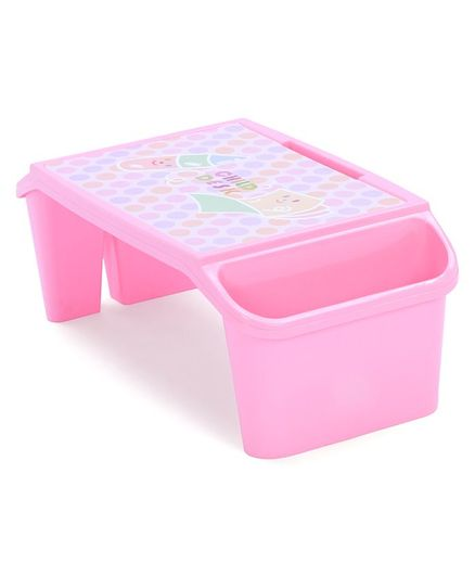 Study Table With Storage For Small Kids - Pink