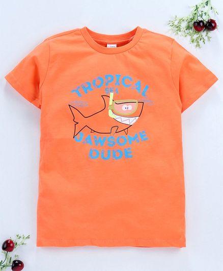 LC Waikiki Half Sleeves Shark Printed Tee - Orange