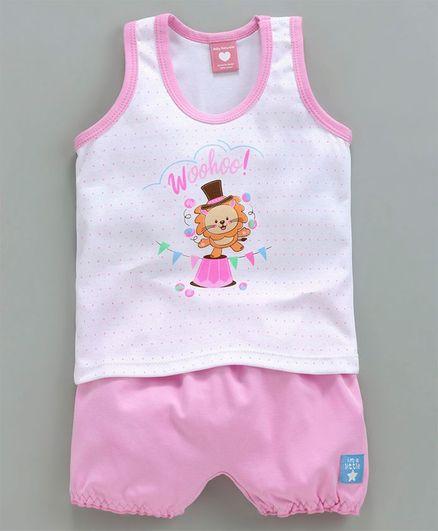 Baby Naturelle & Me Sleeveless Tee & Shorts Circus Print - Pink