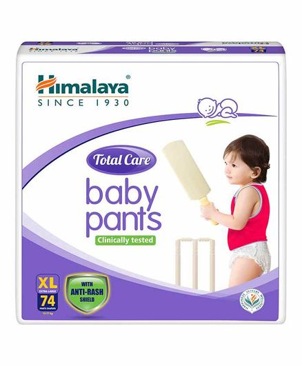 Himalaya Herbal Total Care Baby Pant Style Diapers Extra Large - 74 Pieces
