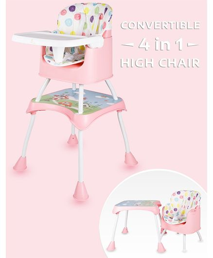 R for Rabbit Cherry Berry Grand 4 in 1 Convertible High Chair - Pink