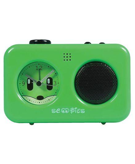 Scoobies Alarm Clock With Voice Recorder - Green