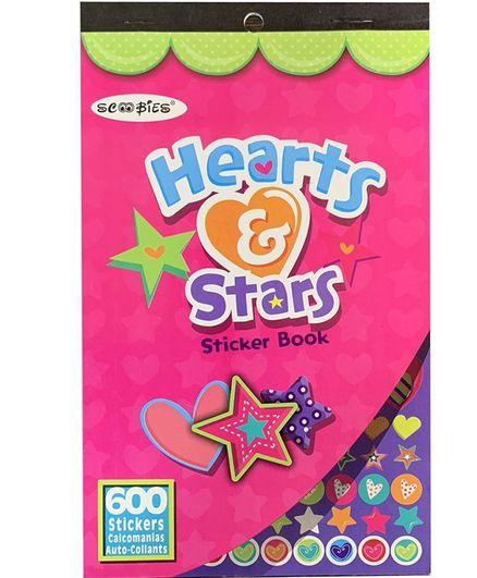 Scoobies Hearts & Stars Sticker Book Multicolor - 600 Stickers