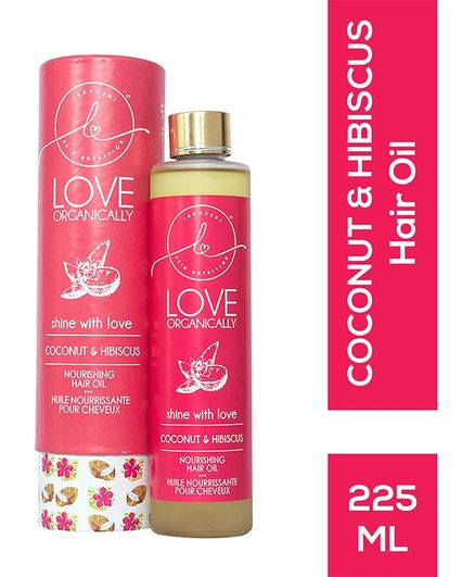 Love Organically Coconut & Hibiscus Hair Oil - 225 ml