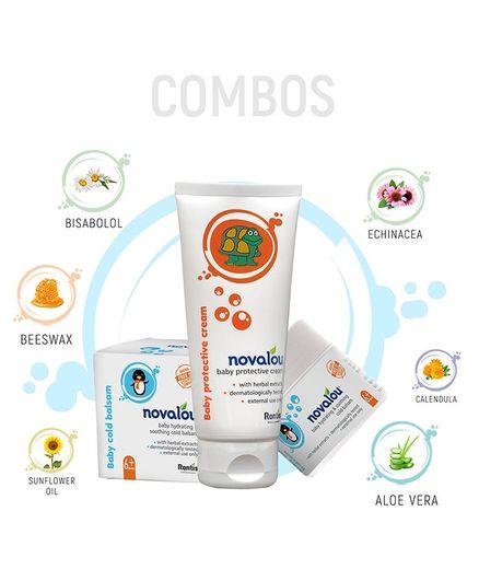 Novalou Protective Diaper Rash Cream & Night Cold Relief Cream Combo Set - 200 gm, 100 ml