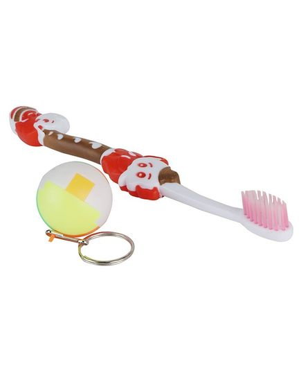 Passion Petals Toothbrush Ball Keychain - Pink Brown