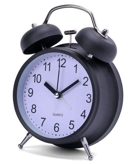 Round Shape Alarm Clock - Black