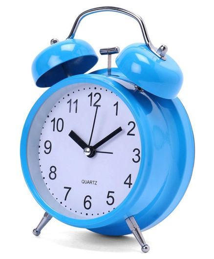 Round Shape Alarm Clock - Blue