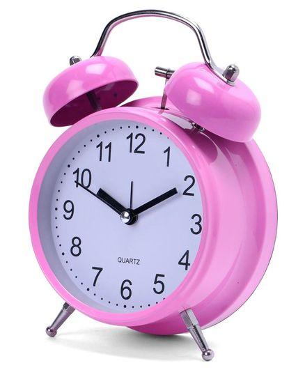 Round Shape Alarm Clock - Pink