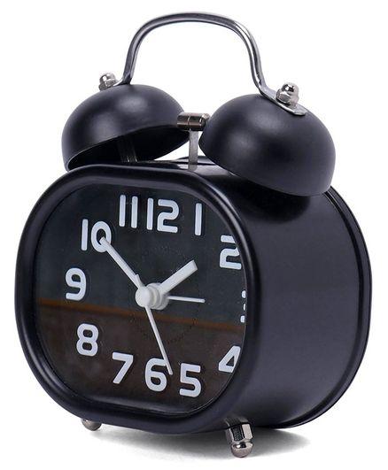 Twin Bell Analog Alarm Clock - Black