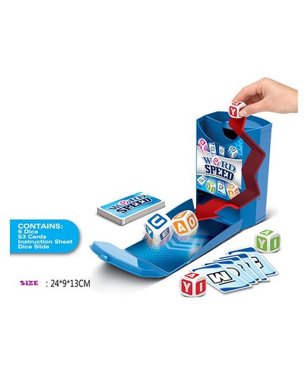Curtis Toys Word Speed Dice Game - Multicolour