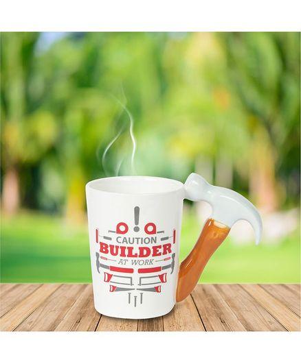 Quirky Monkey Hammer Handle Mug - White