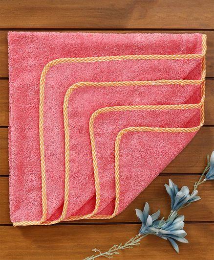 Babyhug Solid Color Towel With Piping - Orange