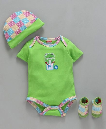 Fisher Price Froggy Embroidered Baby Gift Set of 3 - Green