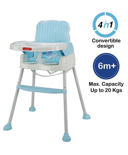 Luvlap 4 in 1 Convertible Baby High Chair Cum Booster Seat - Blue