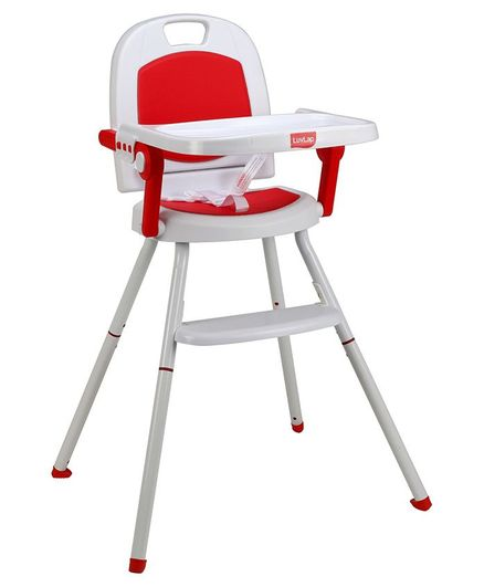 LuvLap Cosmos 3 In 1 High Chair - Red & White