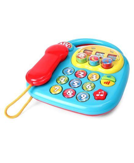 Simba ABC Musical Telephone Toy - Light Blue