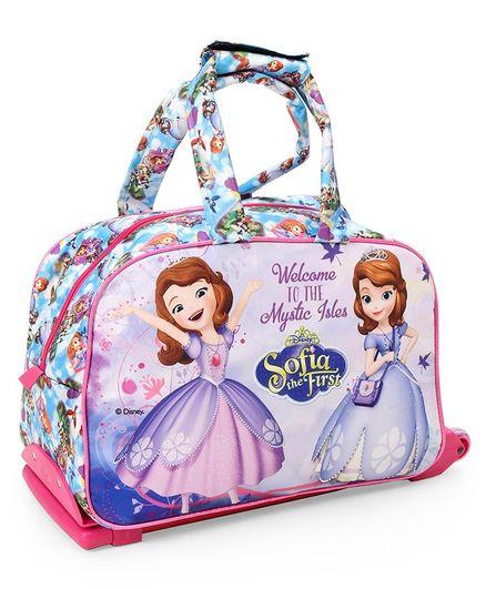 Disney Sofia the First Multipurpose Trolley Bag Multicolour- 12 inches