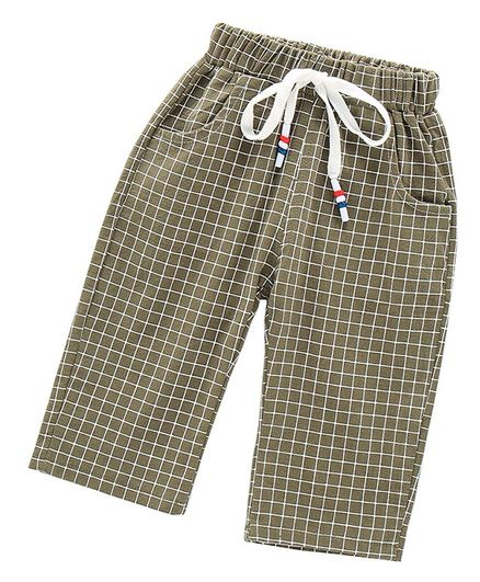Pre Order - Awabox Plaid Three Fourth Pants - Green