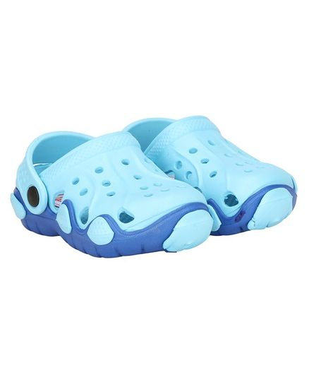Buckled Up Solid Clogs - Light Blue