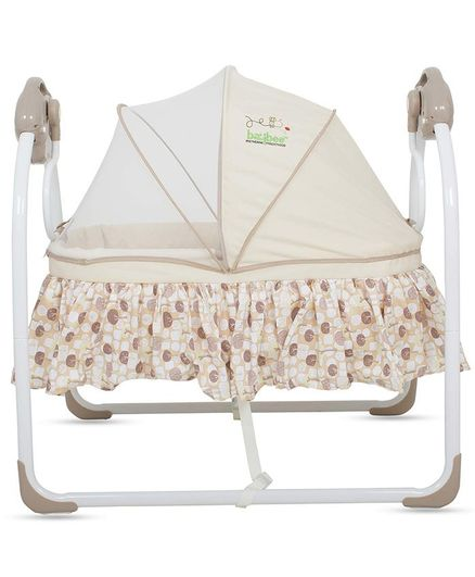 Baybee Electric Baby Cradle That Swings With Music - Brown