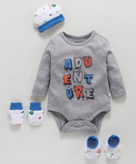 Babyoye Cotton Clothing Gift Set of 4 - Grey
