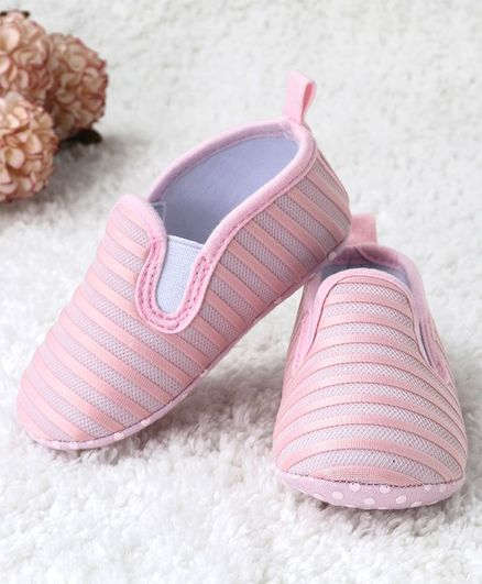Kidlingss Slip On Style Striped Booties - Pink
