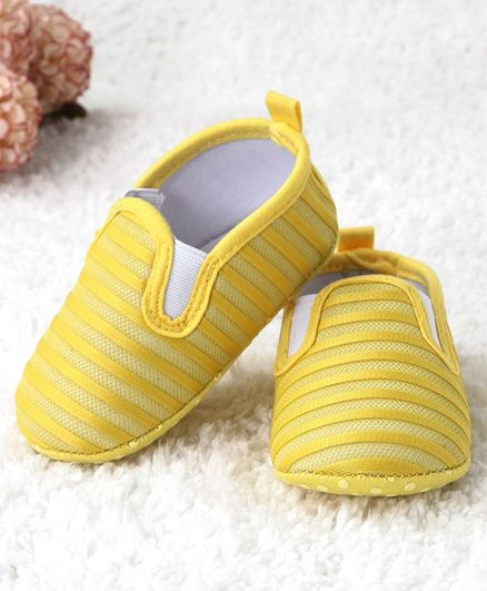 Kidlingss Slip On Style Striped Booties - Yellow