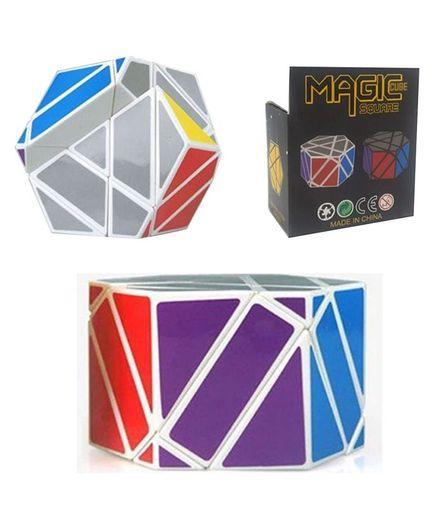 Vibgyor Vibes 3 Layers Hexagon Magic Square Puzzle Cube - Multicolour