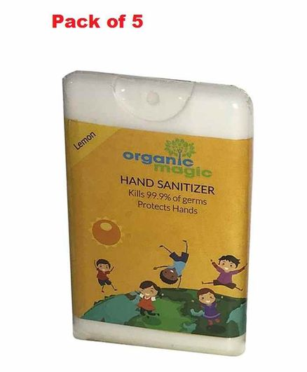 Organic Magic Pocket Hand Sanitizer Lemon Flavour - 18 ml