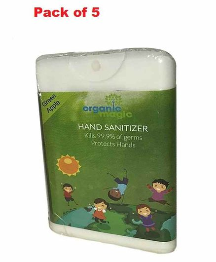 Organic Magic Pocket Hand Sanitizer Green Apple - 50 gm