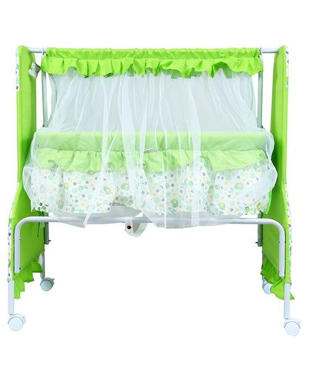 1st Step Cradle With Swing And Mosquito Net - Green