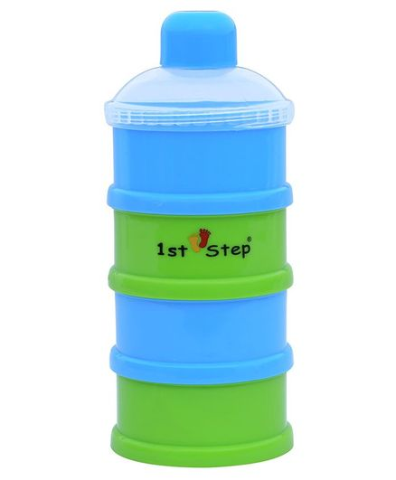 1st Step BPA Free Polypropylene 4-Tier Milk Powder Container - Blue (Print May Vary)