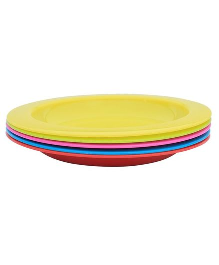 1st Step  Friendly Feeding Plates Pack Of 5 - Multicolour