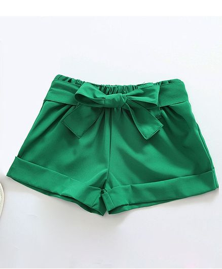 Pre Order - Awabox Solid Elasticated Shorts - Green