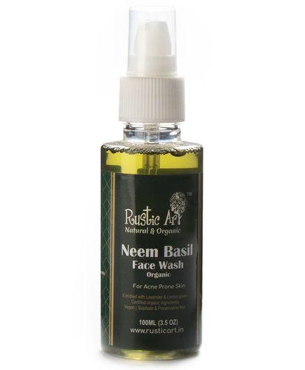Rustic Art Organic Neem Basil Face Wash - 100 ml