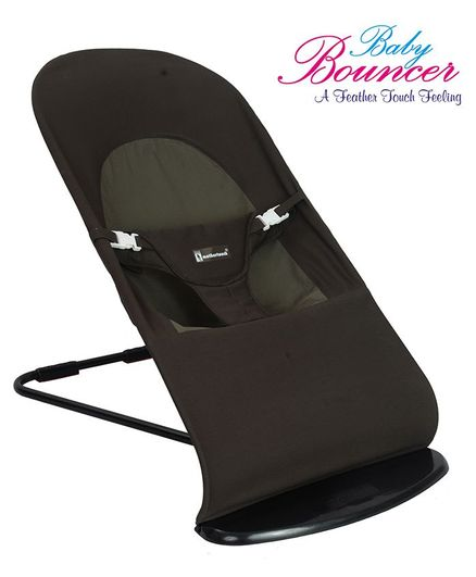 Mothertouch Baby Bouncer With Safety Harness - Dark Brown